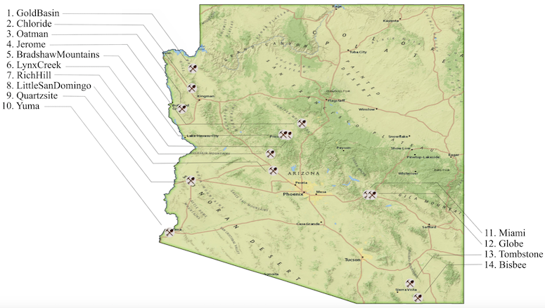 Mining Towns in Arizona