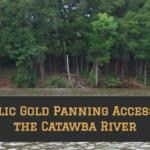 gold panning Catawba Greenway