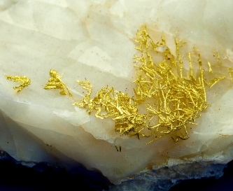 rare gold crystals