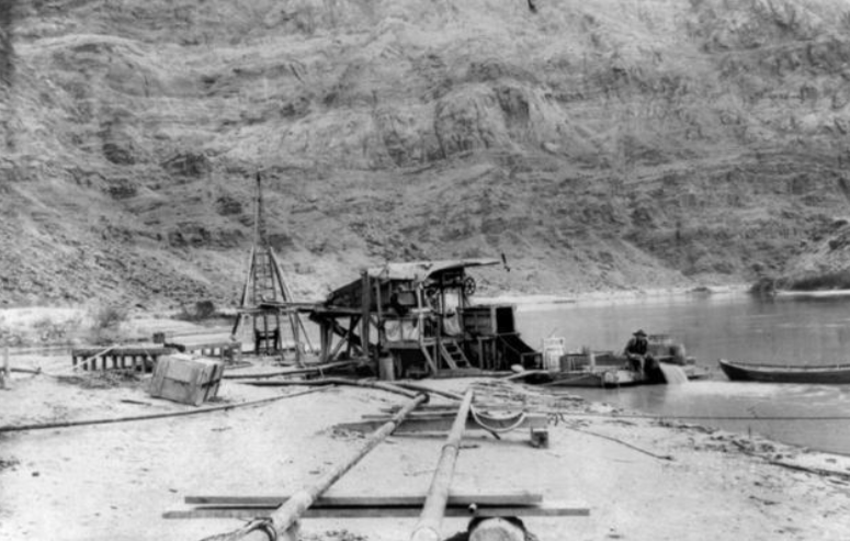 Colorado River placer miner