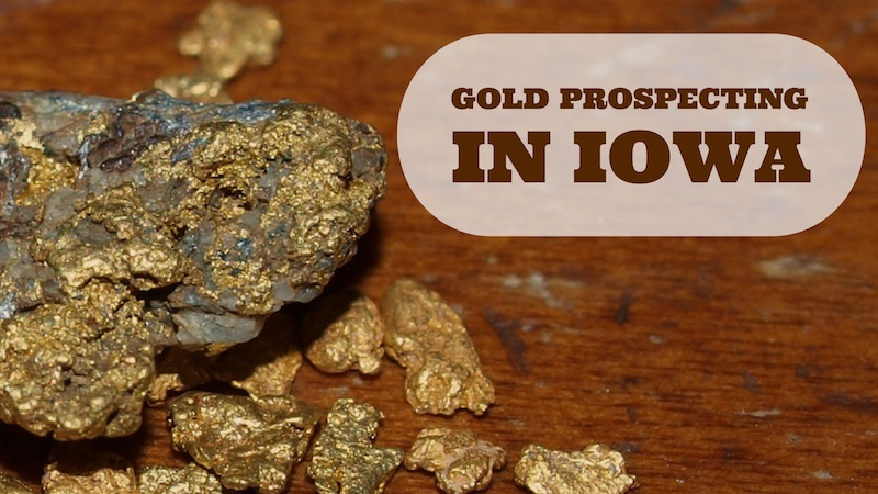 gold mining in Iowa