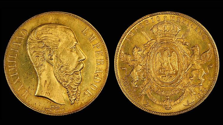 Gold from Maximilian Mexico