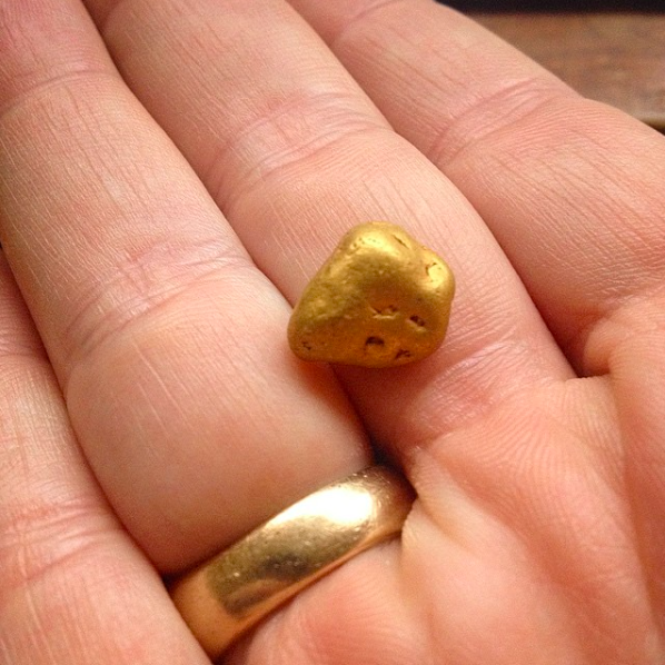 Ancient River Gold Nugget