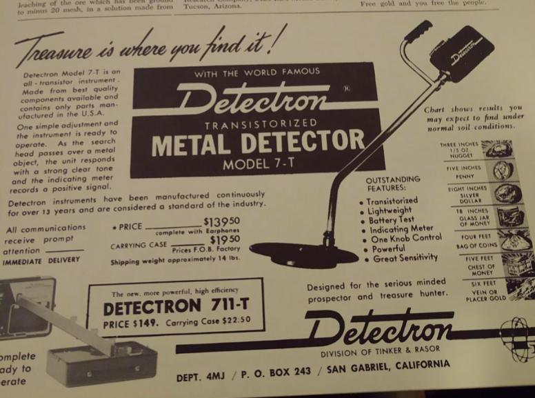 Metal detector 1960s