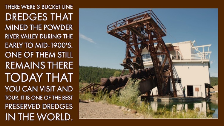 Gold Dredge in Oregon