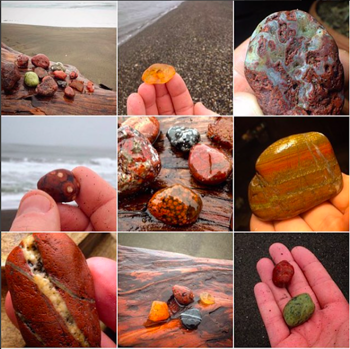 pictures agate hunting