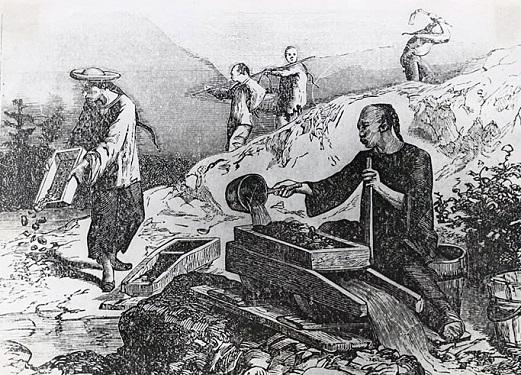 Chinese Miners Gold Rush