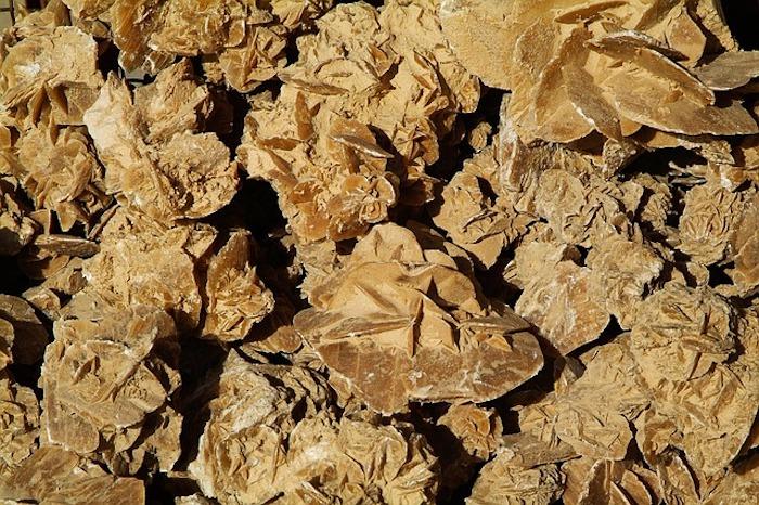 minerals in the desert