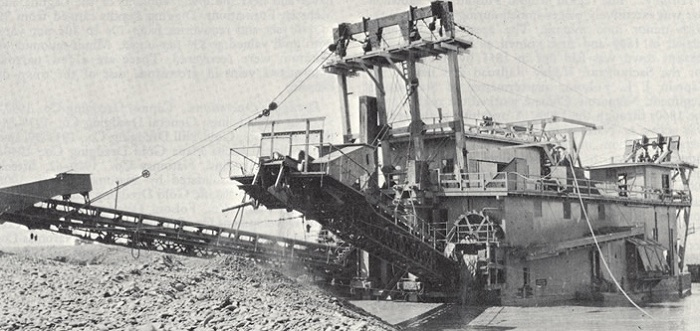 Bucket Dredge for Gold