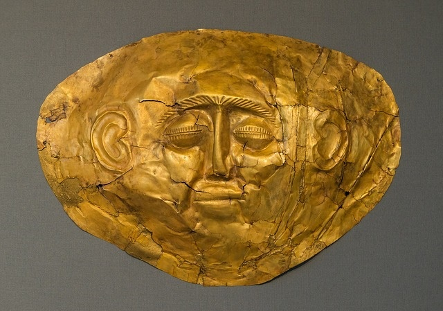 Ancient Gold Burial Death Funeral Mask Face