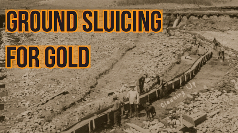 early gold mining sluicing