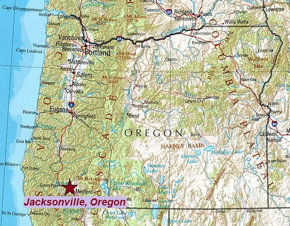 Where is Jacksonville, Oregon