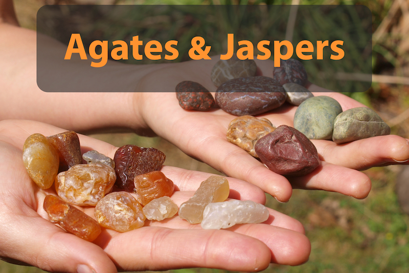 identify agates and jaspers