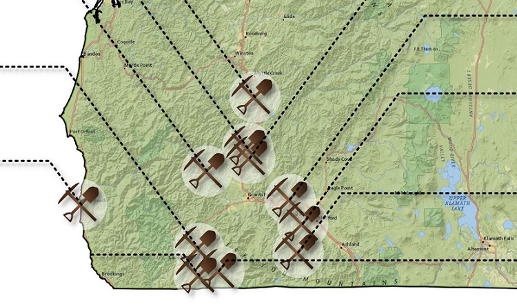 13 western oregon mining towns siskiyou cascade mountain gold most of the mining activity was up galice creek there are still some active mines here today sciox Image collections