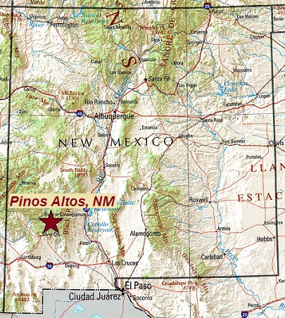Pinos Altos Gold Map