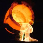 Pouring Precious Metal Bullion Bars