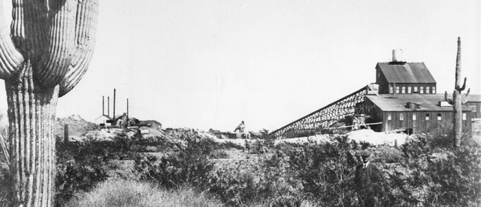 The Vulture Mine was the richest gold mine in Arizona, and was responsible for the rapid growth of Wickenburg.